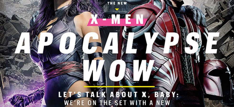 X-Men Apocalypse : les mutants prennent la pose en Une du Entertainment Weekly