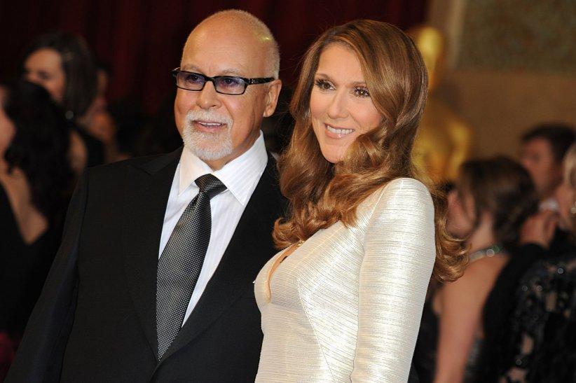 René Angélil et Céline Dion assistent à la 83e cérémonie des Oscars à Los Angeles, le 27 février 2011.