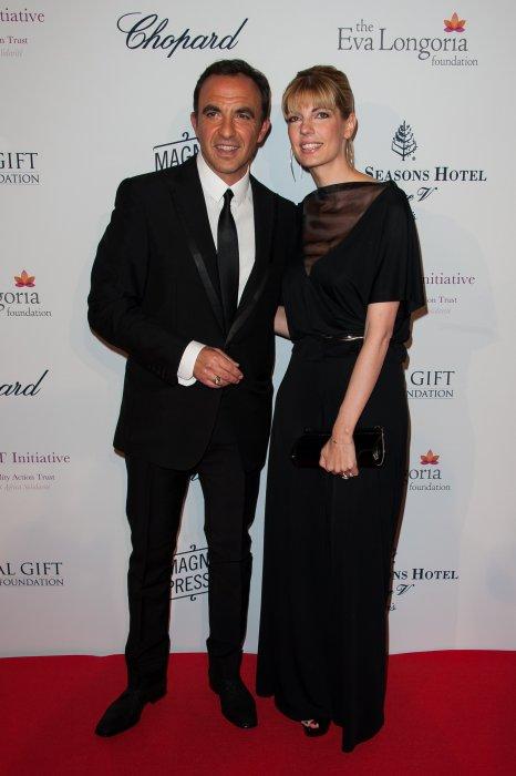 Nikos Aliagas et sa compagne Tina Grigoriou en marge du Global Gift Gala pour la Fondation Eva Longoria à l\