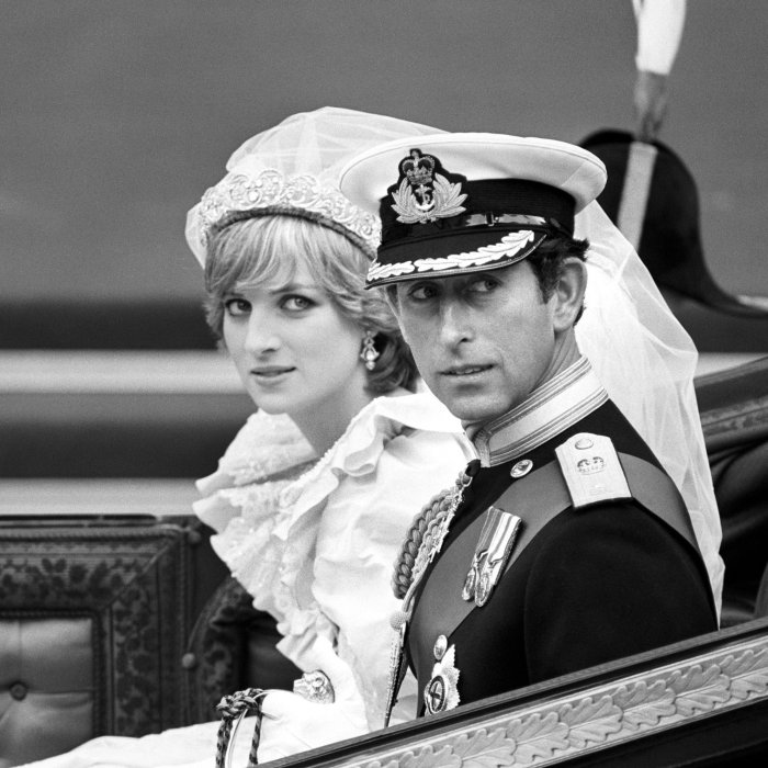 Le prince Charles et Diana le jour de leur marriage à la cathédrale Saint-Paul de Londres, le 29 juillet 1981.