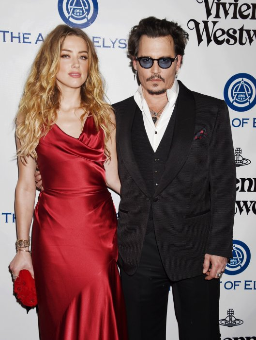 "Johnny Depp et Amber Heard lors du 9e Gala annuel ""The Art Of Elysium"" à Culver City, le 9 janvier 2016."