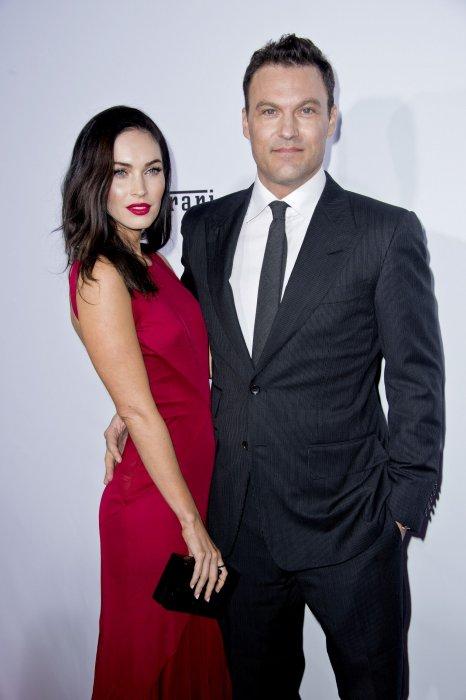 Megan Fox et Brian Austin Green lors du gala du 60e anniversaire de la marque Ferrari à Los Angeles, le 11 octobre 2014.
