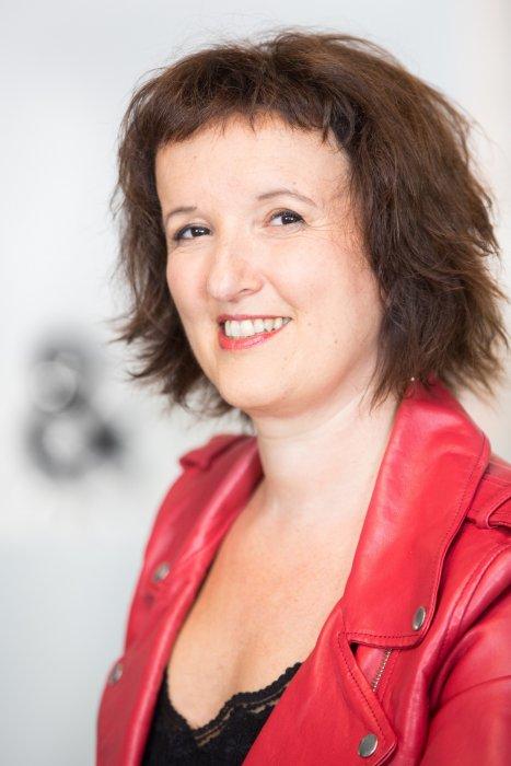 Anne Roumanoff dans les locaux de Webedia pour une Interview pour PurePeople à Levallois-Perret, le 3 août 2016.
