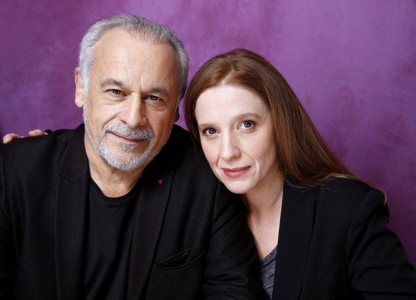 Portrait de Francis Perrin et sa femme Gersende réalisé en février 2014.