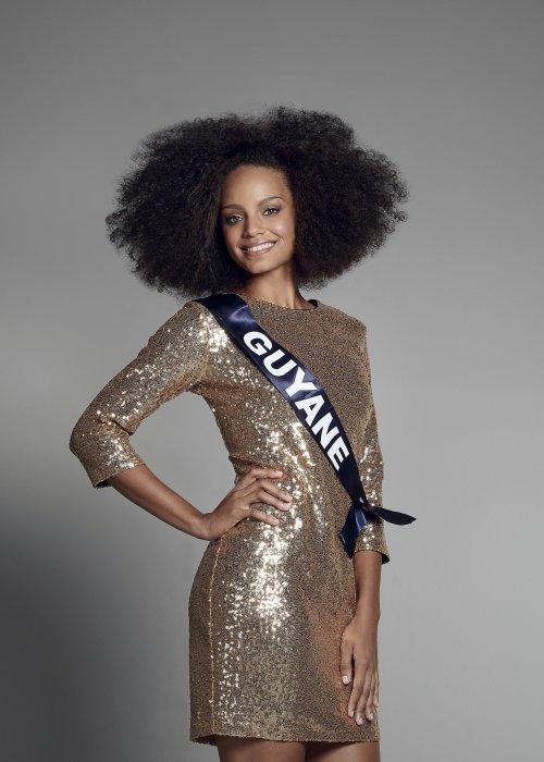 Portrait officiel de Miss Guyane, alias Alicia Aylies, avant l\