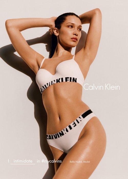 Bella Hadid pour la nouvelle campagne automne-hiver 2016-2017 Calvin Klein.
