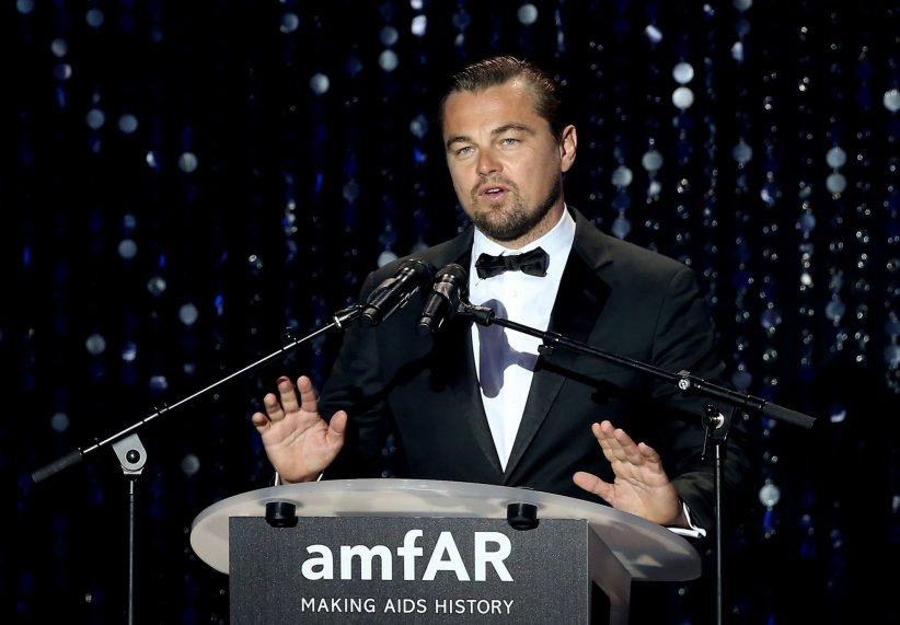 Leonardo DiCaprio donne un discours lors du gala de l\