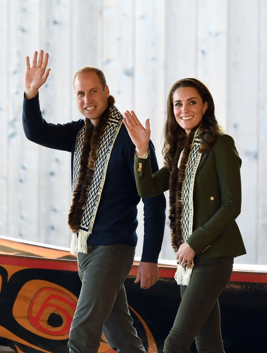 Kate Middleton et le prince William visitent l'île de Haida Gwaii au Canada, le 30 septembre 2016.