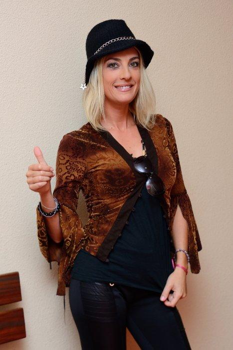 Eve Angeli lors de la 20e édition du gala Faire Face à Avignon, le 12 octobre 2013.