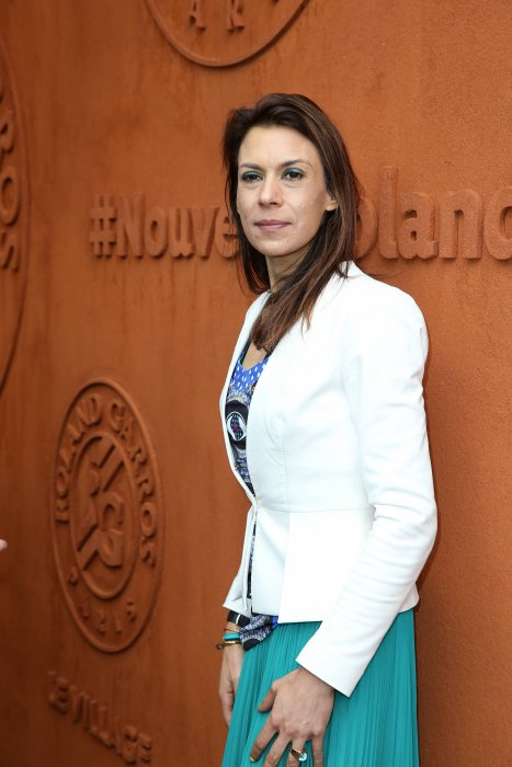Marion Bartoli assiste aux internationaux de France de tennis à Roland Garros à Paris, le 4 juin 2016.