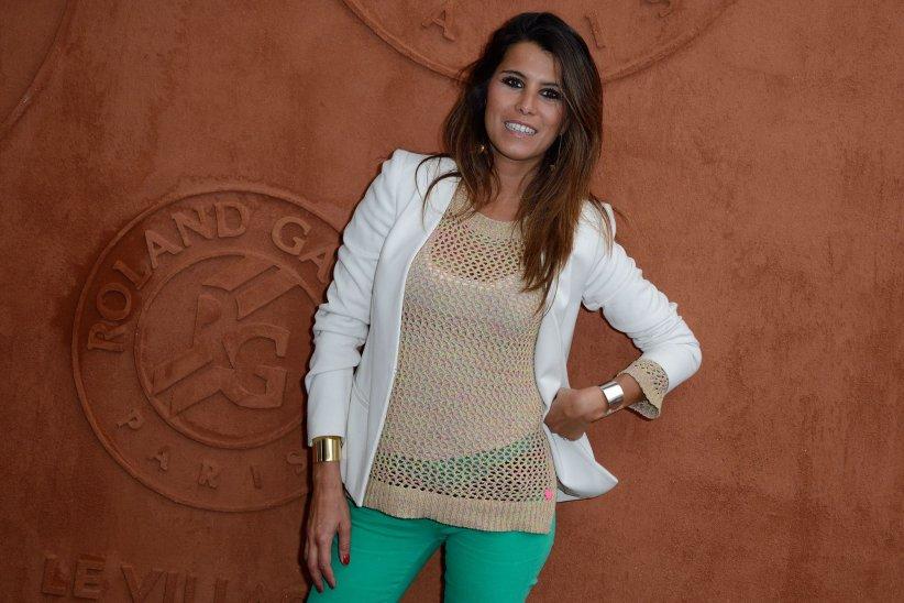 Karine Ferri, en marge du tournois de tennis de Roland-Garros, le 26 mai 2014.