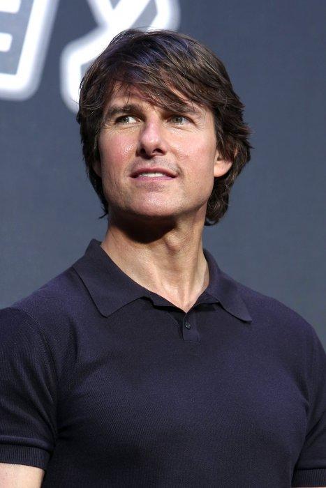 """Tom Cruise lors de la première japonaise de """"Mission Impossible : Rogue Nation"""" à Tokyo, le 3 août 2015."""