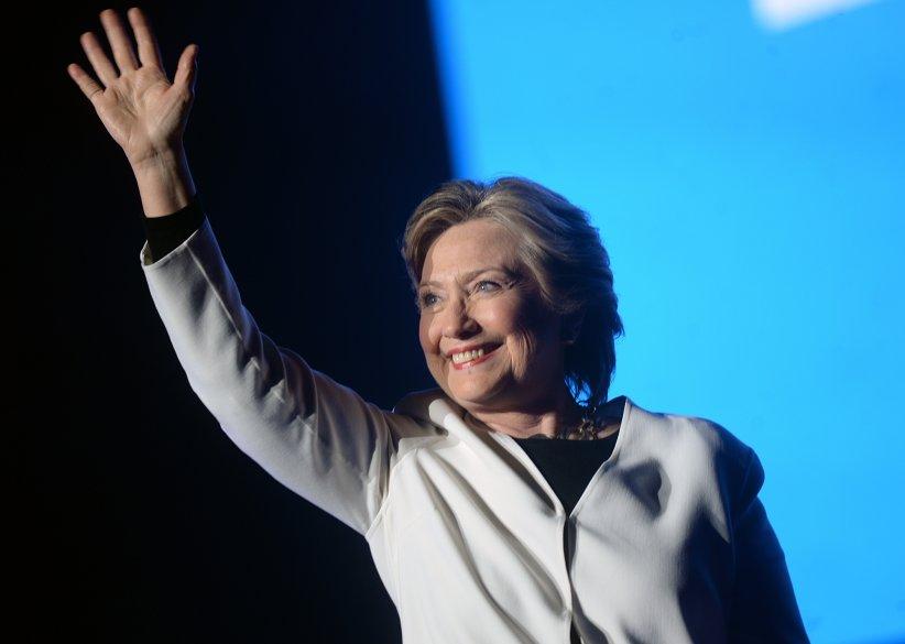 Hillary Clinton délivre un discours lors d\