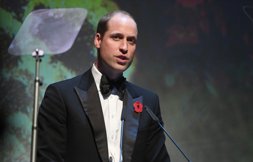 "Le prince William lors de la cérémonie des ""Evening Standard Theatre Awards"" au théâtre Old Vic à Londres, le 13 novembre 2016."