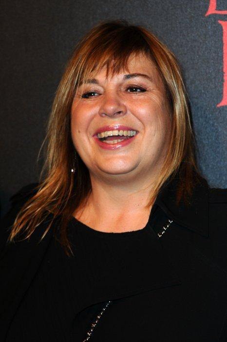 """Michèle Bernier à la première de """"La Belle et la Bête"""" au Théâtre Mogador à Paris, le 24 octobre 2013."""