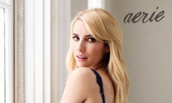 Emma Roberts pose pour la lingerie Aerie