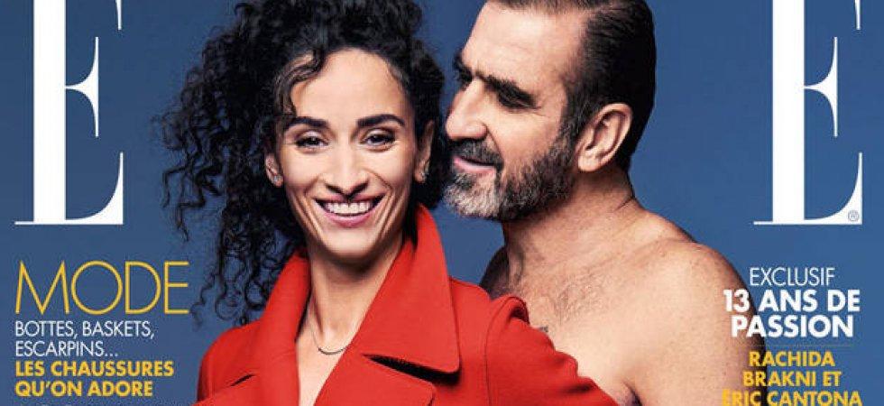 Eric Cantona : nu pour ELLE au côté de sa femme
