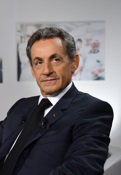 Nicolas Sarkozy en interview pour la chaîne BFMTV par Ruth Elkrief à Paris, le 22 septembre 2016.