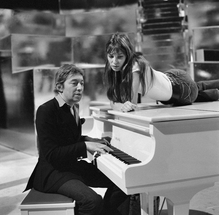 Serge Gainsbourg et Jane Birkin, sur le plateau de l\