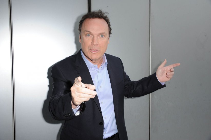 Julien Lepers assiste à une conférence de presse de France Télévisions à Paris, en 2011.