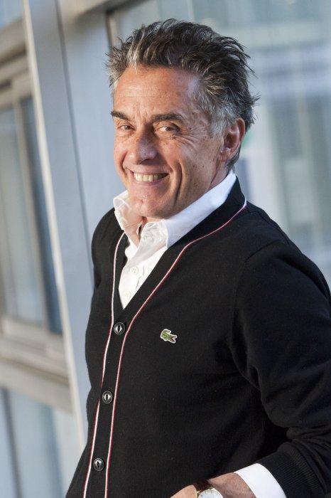 Gérard Holtz,en marge du Téléthon 2014 à Paris, le 13 novembre 2014.