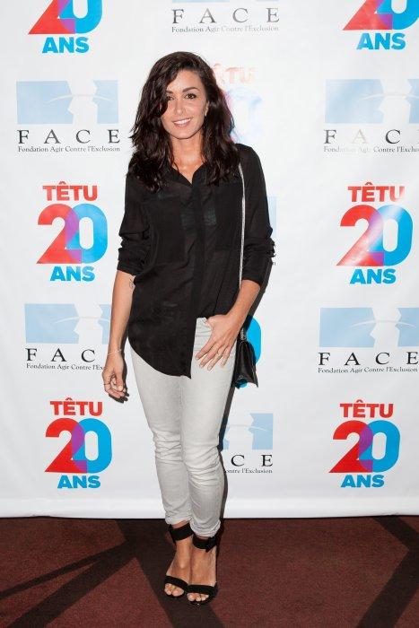 Jenifer assiste au 20ème anniversaire du magazine Têtu à Paris, le 18 mai 2015.