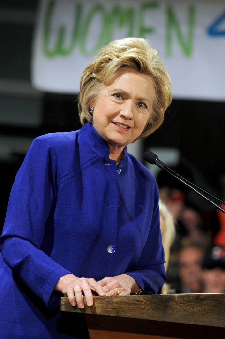 Hillary Clinton en meeting à New York, le 18 avril 2016.