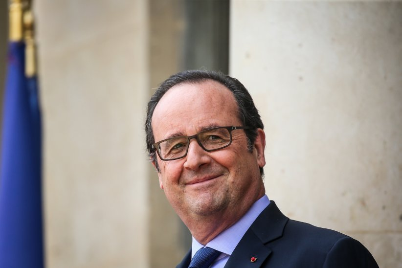 François Hollande lors de la visite du président de l\