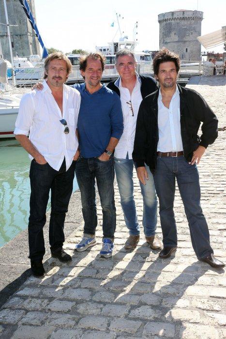 Bernard Yerlès, Stéphane de Groodt, Bruno Madinier, assistent au 14e Festival de la Fiction TV de La Rochelle, le 14 septembre 2012.