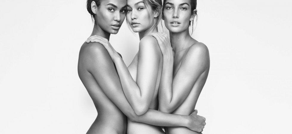 Gigi Hadid, Lily Aldridge et Joan Smalls posent nues pour Stuart Weitzman