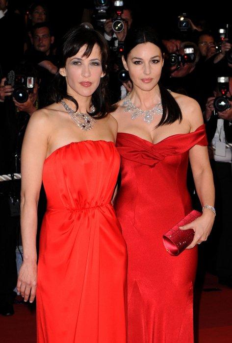 Monica Bellucci et Sophie Marceau lors du 62e Festival de Cannes, le 16 mai 2009.