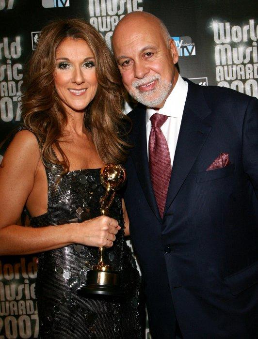 Céline Dion et René Angélil aux World Music Awards à Monaco, le 4 novembre 2007.