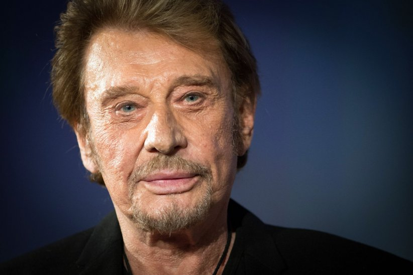 Johnny Hallyday, en marge du 6e Festival International du Film Policier à Beaune, en avril 2014.