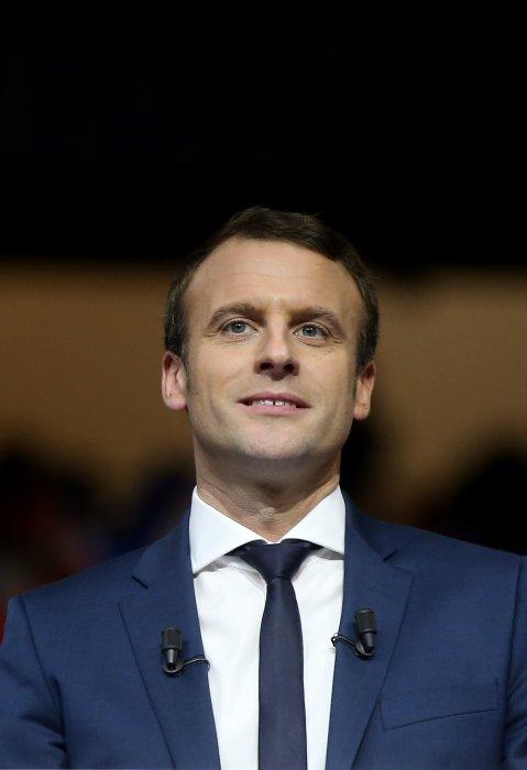 Emmanuel Macron en meeting au Palais des Sports de Lyon, le 4 février 2017.