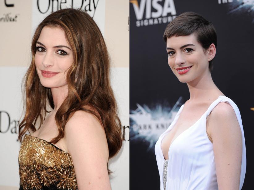 Anne Hathaway : la coupe à la garçonne ou rien !