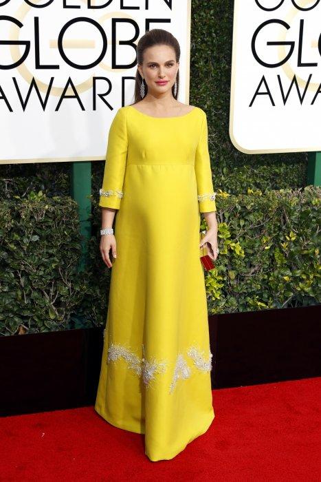 Natalie Portman, enceinte, lors de la 74ème cérémonie annuelle des Golden Globe Awards, à Beverly Hills, le 8 janvier 2017.