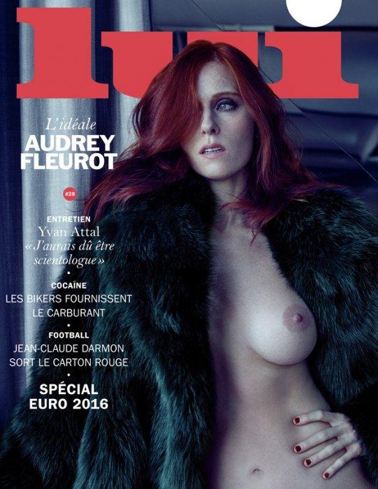 Audrey Fleurot, cover girl du mois de juin 2016 du magazine Lui.