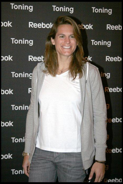 Amélie Mauresmo lors de la présentation de la nouvelle ligne Reebok au Showcase à Paris, le 17 mai 2010.