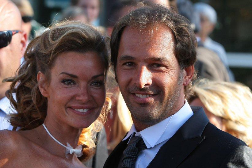 Ingrid Chauvin et Thierry Peythieu se sont mariés au Cap-Ferret, en août 2011.