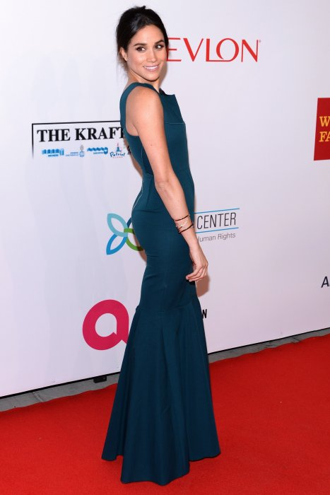 Meghan Markle au gala donné par la Fondation Elton John contre le Sida, à New York, le 28 octobre 2014.