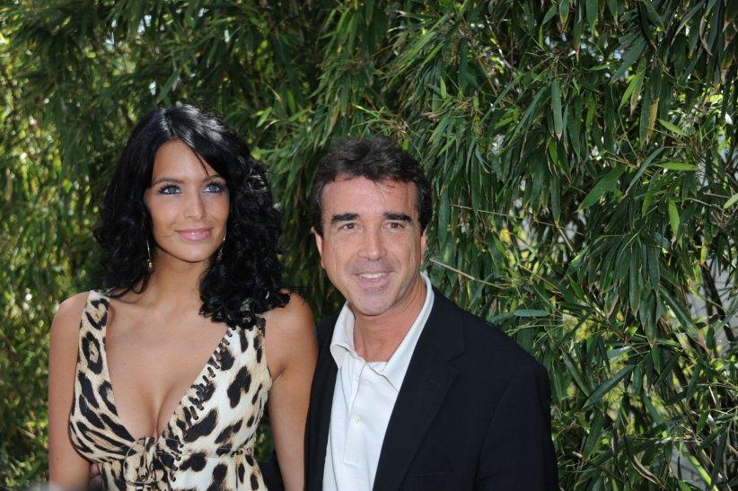 Jade Foret et Arnaud Lagardere étaient présents à Roland Garros en mai 2011.