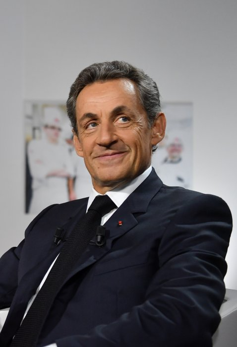 Nicolas Sarkozy interviewé pour BMF TV par Ruth Elkrief à Paris, le 22 septembre 2016.