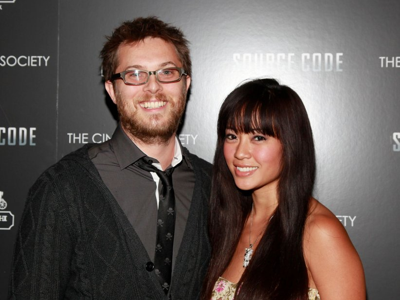 Duncan Jones et sa femme, Rodene Ronquillo, assistent à la projection du film Source Code à New-York en 2011.