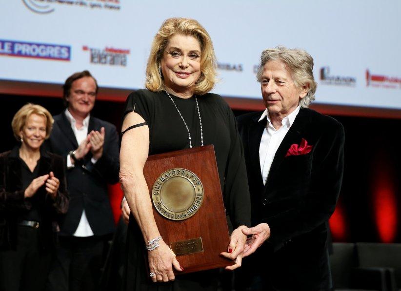 Catherine Deneuve et Roman Polanski au 8e Festival Lumière à Lyon, le 14 octobre 2016.