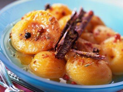 Abricots pochés aux épices
