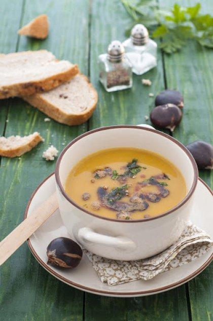 Soupe de châtaignes et butternut