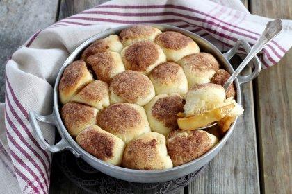 Gâteau brioché pomme cannelle