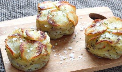Mille-feuilles de pommes de terre nouvelles