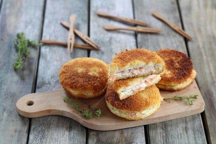 Croque fromage frais saumon