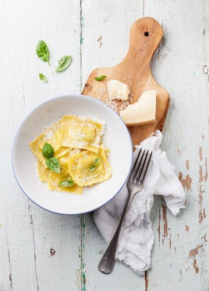 Raviolis farcis au foie gras et pleurotes